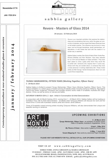 Sabbia-Gallery---Jan-Feb-2014-Newsletter