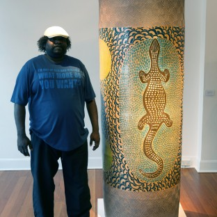 ERN - Derek Jungarrayi Thompson with Wanampi, 2013 - acquired by the Powerhouse Museum Sydney