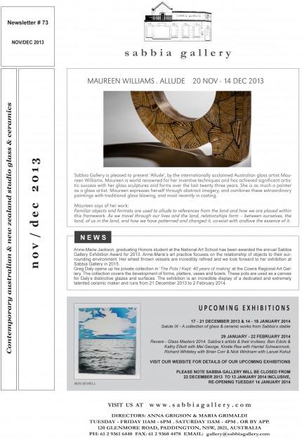 Sabbia-Gallery—November-2013-Newsletter