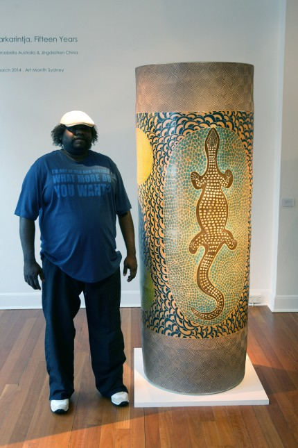 ERN – Derek Jungarrayi Thompson with Wanampi, 2013 – acquired by the Powerhouse Museum Sydney