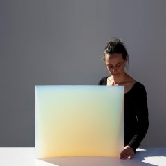 Jessica Loughlin with receptor of light xi for site